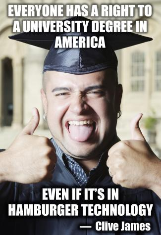 College graduate with thumbs up
