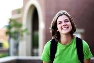smiling college student