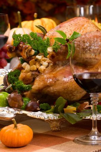 Turkey stuffing in cooked bird