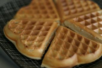 Freshly made waffles