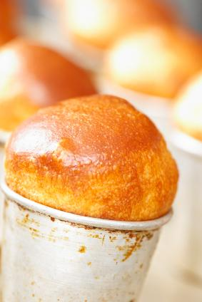 Baba cakes with apricot