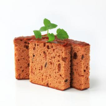 slices of chocolate sponge cake