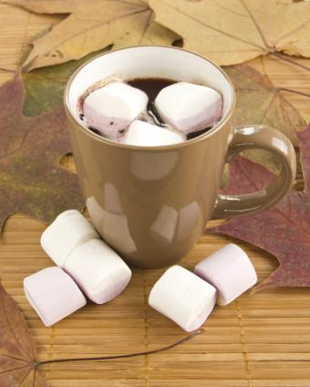 Marshmallows in hot cocoa; Copyright Usynina at Dreamstime.com