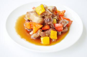 Pork in Chinese brown sauce