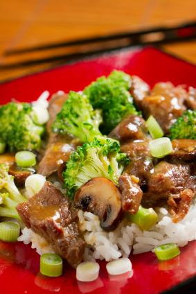 Asian-style beef and broccoli
