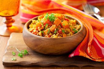 Rice with pumpkin