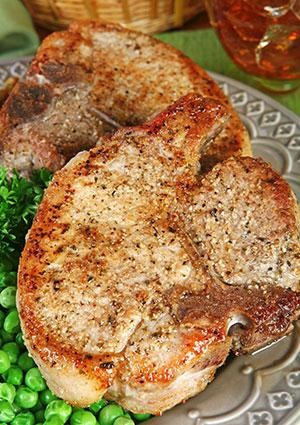 Spiced rubbed pork chops