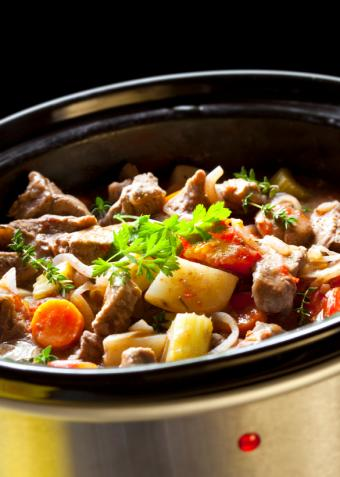 slow cooker with stew