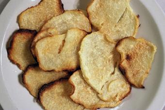 baked jicama chips