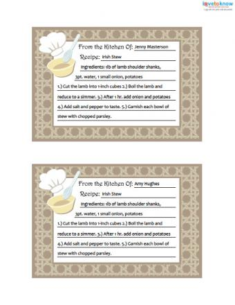 Click to print and download the recipe cards.