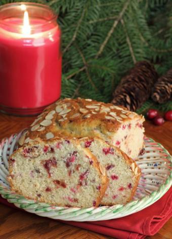 cranberry orange almond loaf