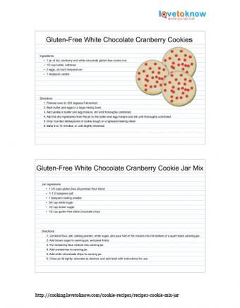Gluten-Free White Chocolate Cranberry Cookies Recipe