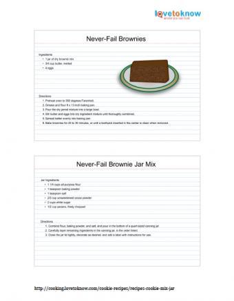 Printable Never-Fail Brownies in a Jar Recipe
