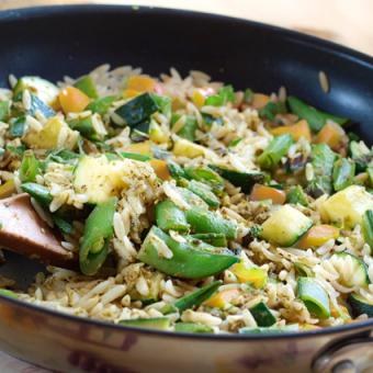 Photo of Pea and Orzo Summer Salad