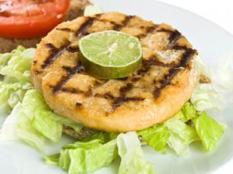 Grilled salmon patty