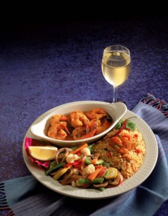 Asian bourbon-glazed shrimp