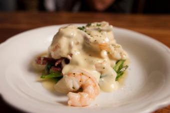 shrimp in bourbon cream sauce