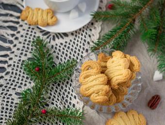 Traditional spritz cookies
