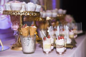 Dessert bar with sweets
