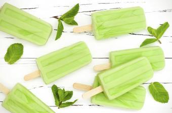 Coconut matcha popsicles