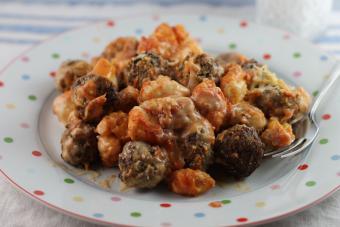 Creamy Meatballs and Tortellini