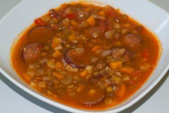 Lentil and chorizo chili