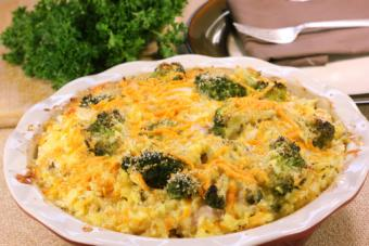 Chicken and rice tater tot casserole