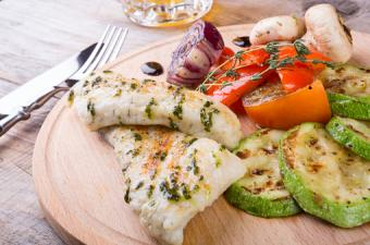 Basil Pesto Chicken and vegetables