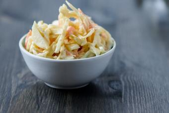 small bowl of KFC-style coleslaw