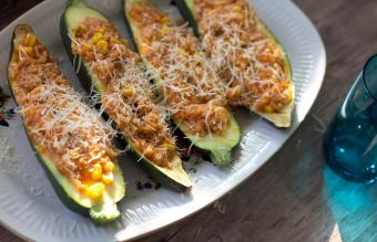 Zucchini Meatloaf Boats