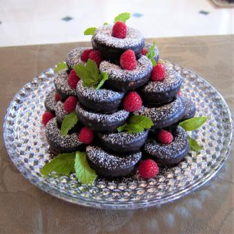 Chocolate Donut Tree