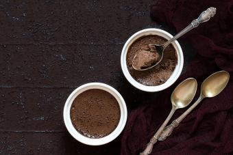 Creamy, chocolate custard dessert