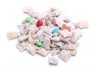 Chocolate and Peanut Butter Cereal Party Mix