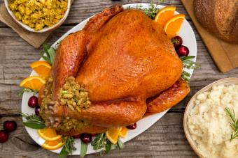 Stuffed turkey with dressing
