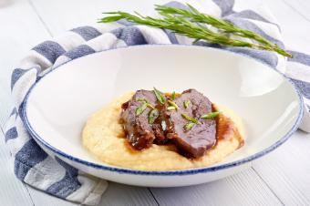 Pork Cheeks In Demiglas Sauce with mashed potatoes
