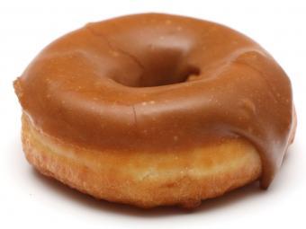 Maple glazed donut