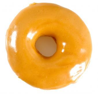 Orange browned butter glazed donut