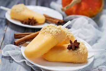 Sweet pumpkin popsicle ice cream