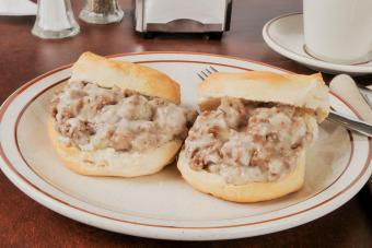 Chipped Beef on Biscuits