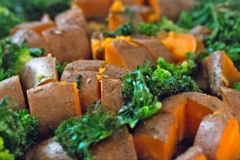 Kale and Sweet Potatoes