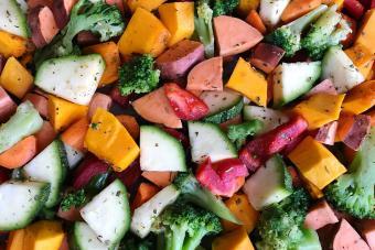 broccoli and sweet potatoes