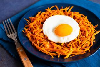 Sweet Potato Hash With Egg