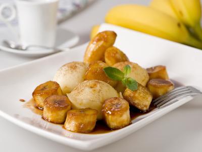 Bananas foster dessert