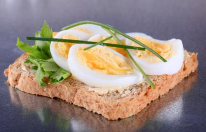 eggs on bread