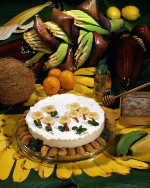 caramelized banana custard pie