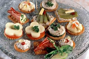 Anchovy canapes recipe 1 lovetoknow for Canape recipes with ingredients and procedure
