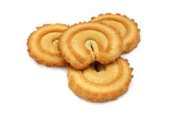 Butter cookies are light and delicious.