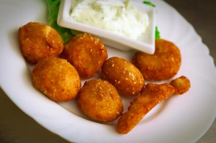 croquettes with dressing