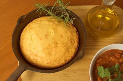 cornbread and chili