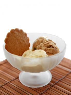 vanilla and coffee ice cream